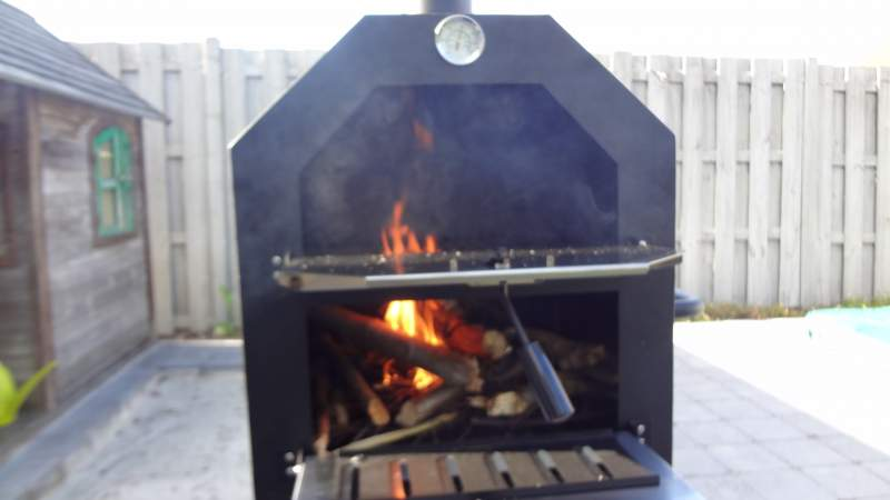 This is how it looked when we started the first fire.