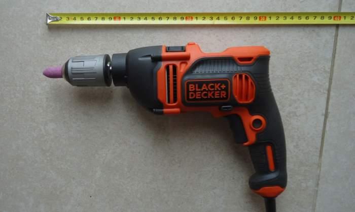 A multi-purpose tool, my new Black-Decker BEH850 drilling machine.