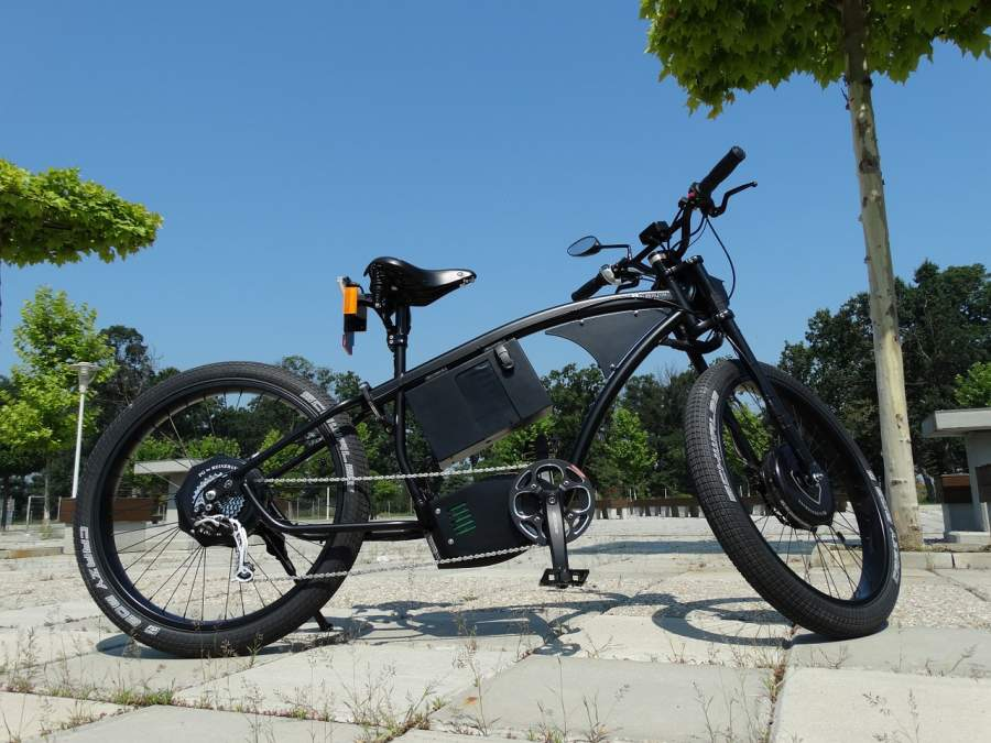 An example of a folding electric mountain bike.