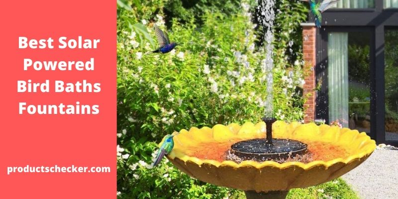 Best Solar Powered Bird Baths Fountains