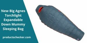 New Big Agnes Torchlight Expandable Down Mummy Sleeping Bag