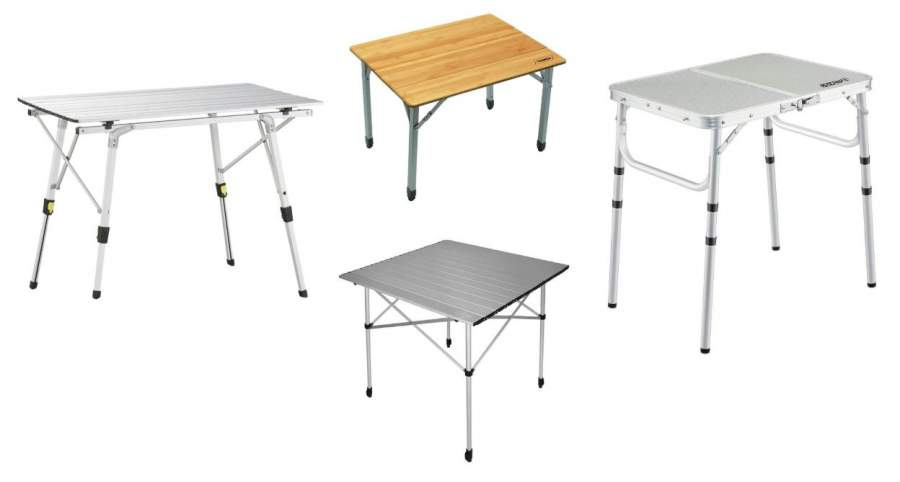 Folding Camping Tables with Adjustable Legs