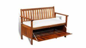 Outdoor Wooden Storage Benches