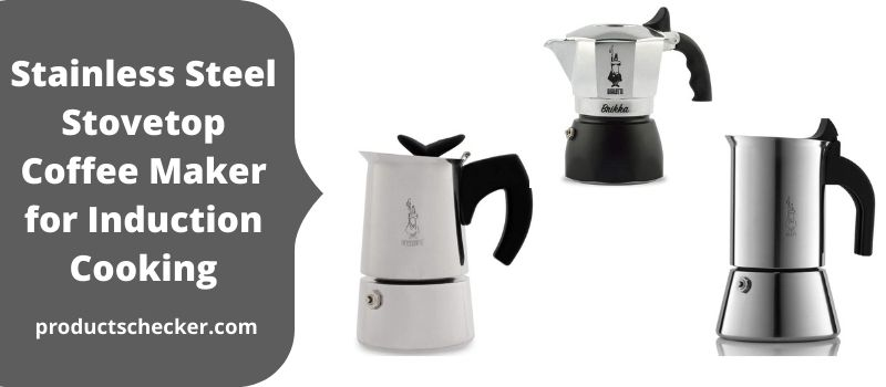 Stainless Steel Stovetop Coffee Maker for Induction Cooking