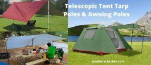 Telescopic Tent Tarp Poles & Awning Poles