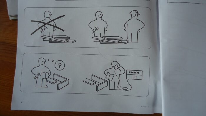 Ikea support.