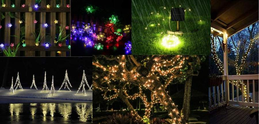 Christmas Lights.Solar Powered Christmas Lights Outdoors Amazon Best Sellers