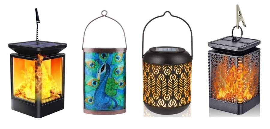 Solar powered lanterns for the garden